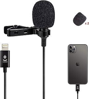 میکروفن میکروفن Omnidirectional میکروفن حرفه ای Lavalier Lapel برای iPhone 7/7 plus / 8/8 Plus ، iPhone X / XS / XR ، YouTube Vlogging مصاحبه با فیس بوک Livestream ضبط ویدئو