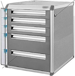 Armoires à clés Meuble de Rangement en Alliage d'aluminium classeur de Bureau Grande capacité de Stockage en Toute sécurit...