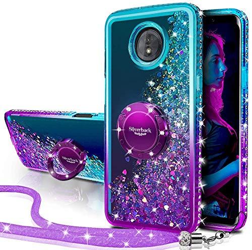 Miss Arts Cover Moto G5 Plus,[Silverback] Custodia Glitter di in TPU con Supporto Rotazione a 360 Gradi, Pendenza Colore Diamond Liquido Cover Case per Motorola Moto G5 Plus -Porpora