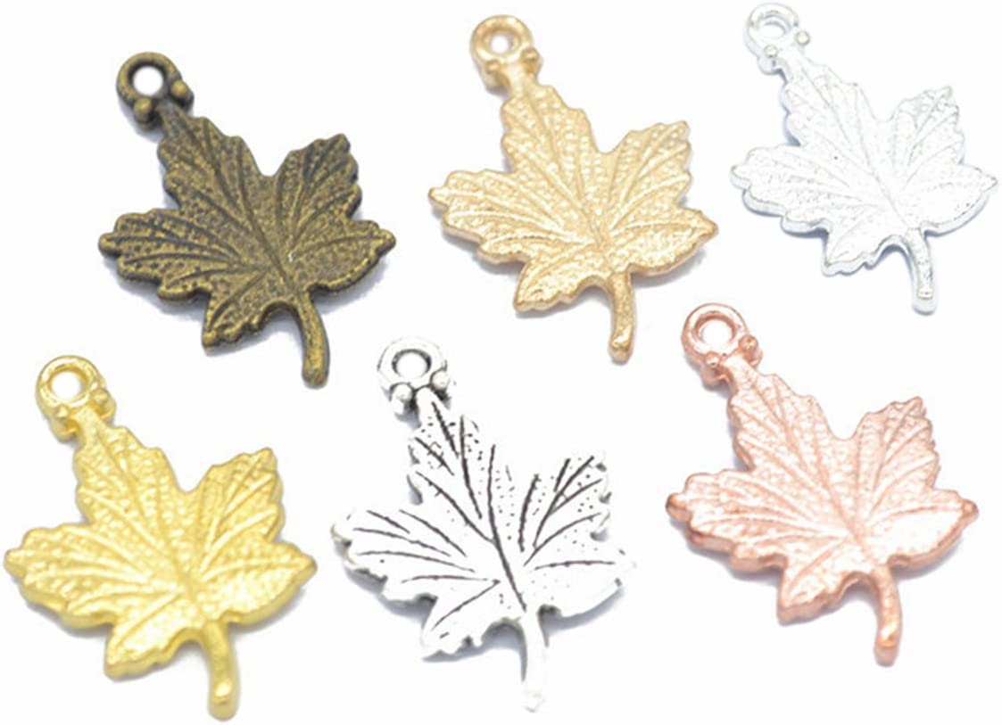 Maple Leaves 90 Pieces Miami Mall wholesale Mixed-Color DIY for Pendants Jewel Charms