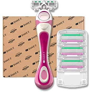 Shave It - Rasoio a 4 lame da donna, con manico e 4 testine