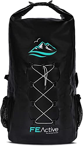 FE Active Dry Bag Waterproof Backpack - 30L Eco Friendly Wet Bag for Men & Women for Fishing, Travel, Hiking, Beach &...