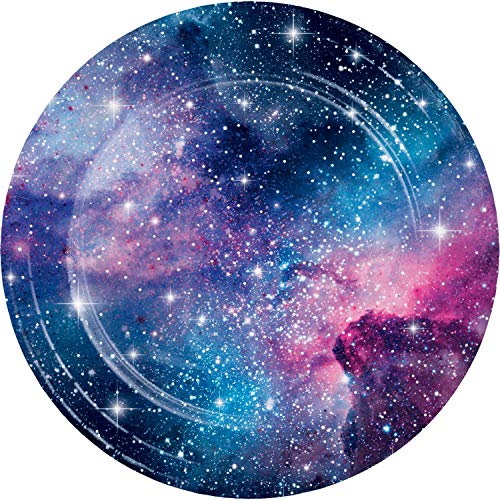 Galaxy Party Dinner Plates, 24 ct