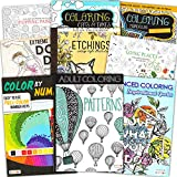 Adult Coloring Book Bundle with 8 Deluxe...