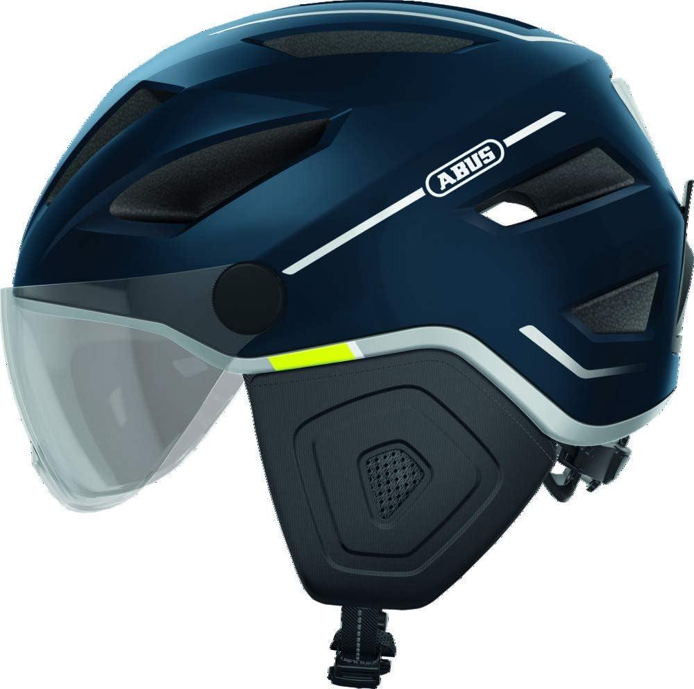 ABUS Pedelec 2.0 ACE Stadthelm - Hochwertiger E-Bike Helm mit Rücklicht und Visier für den Stadtverkehr - für Damen und Herren