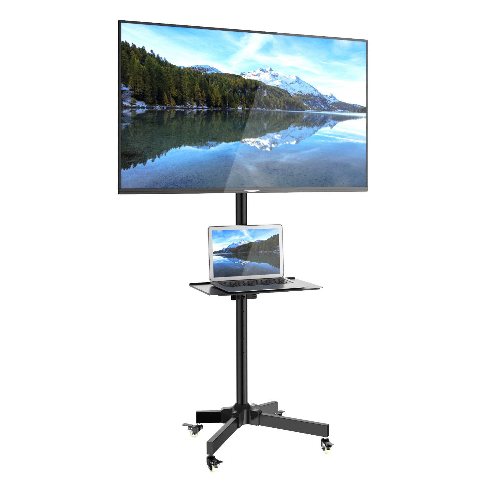 Oor Stan Plasma LCD LED nt Home Disp Display Trolley Asma LCD Mobile TV Cart Display T Floor Stand TV Cart Mount Home V Cart: Amazon.es: Electrónica