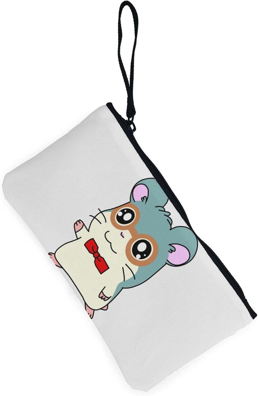 AORRUAM Bow mouse Canvas Coin Purse,Canvas Zipper Pencil Cases,Canvas Change Purse Pouch Mini Wallet Coin Bag