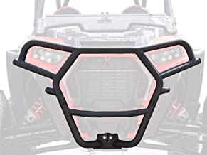 SuperATV Heavy Duty Front Brush Guard Bumper for Polaris RZR XP Turbo S (2018+) - Black - 100% Bolt On for Easy Installation!