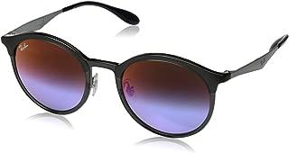 Women's RB4277 Emma Round Sunglasses, Matte Grey/Blue Violet Gradient Mirror, 51 mm