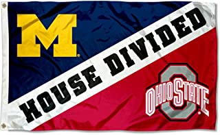 College Flags and Banners Co. Michigan vs. Ohio State House Divided 3x5 Flag