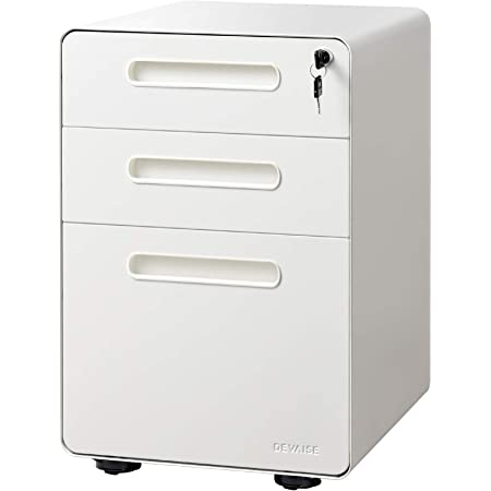 Pemberly Row 3-Drawer Mobile File Cabinet with Anti Tilt in White