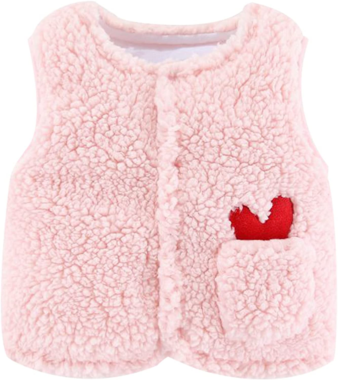 Unisex Baby Girls Boys Faux Over item handling ☆ Fur Vest Sherp Max 68% OFF Fuzzy Sleeveless Coat