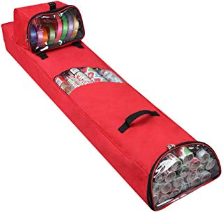 """Primode Hanging Gift Wrap Storage Bag with Detachable Accessory Tote 