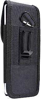 DFV mobile - Nylon Belt Holster with Metal Clip and Card Holder for INFINIX ZERO 8i (2020) - Black