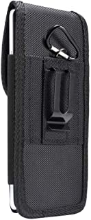 DFV mobile - Belt Case Cover Nylon with Metal Clip New Style Business compatible with VKworld T1 Plus Kratos - Black