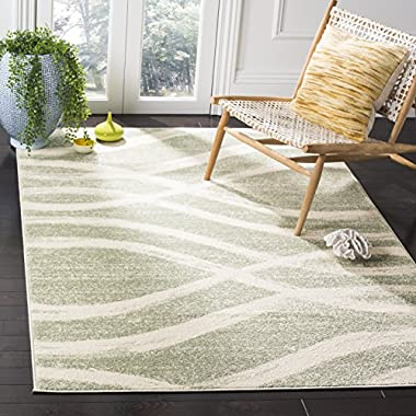 Safavieh Adirondack Collection ADR125X Sage and Cream Modern Square Area Rug (6' Square)
