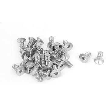Tornillos de cabeza hexagonal de acero inoxidable con arandela de resorte y arandelas planas Sourcingmap 10 unidades