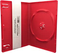 CheckOutStore (6) Premium Standard Single 1-Disc DVD Cases 14mm (Red)