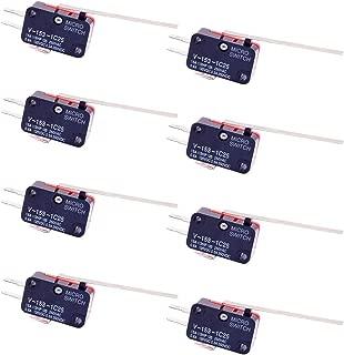 WPERSUVV Paquete de 8 unidades de sensores de final de carrera con interruptor de palanca de bisagra recta larga V-153-1C25