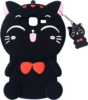 Joyleop Black Cat Case for Samsung Galaxy J5 Prime,Cute 3D Cartoon Animal Cover,Kids Girls Fun Soft Silicone Rubber Kawaii...