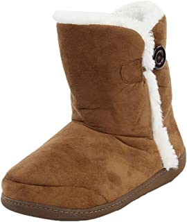 Women's Winter Warm Memory Foam Indoor House Slippers Boots