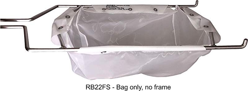 Miroil RB22FS Fryer Filter Bag MirOil EZ Flow Filter Bag Part 12748 Use To Filter Fry Oil Suitable For 15 Qt Polishing Oil Durable Easy To Clean With Hot Water No Frame