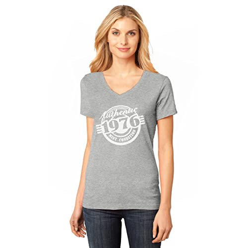 41st Birthday Gift Authentic 1976 Mint Condition Funny V Neck Women T Shirt