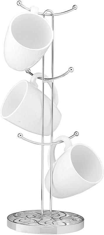 Saganizer Chrome Mug Tree High Quality Mug Holder Use For Coffee Mug Tree Or Any Mug Rack