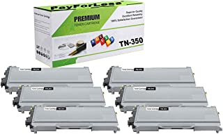 PayForLess Compatible TN350 TN-350 Toner Cartridge 6PK Black for Brother HL-2070N HL-2040 DCP-7020 MFC-7420 MFC-7225N MFC-7820N Intellifax-2820