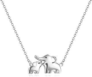 Elephant Pendant Necklace Earrings Bracelet Sterling Silver Ear Studs for Women Girls
