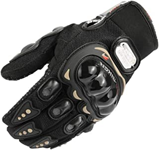 Kecontsy Leather Motorcycle Gloves Motocross Gloves Motorcycle Racing Cross Country Gloves