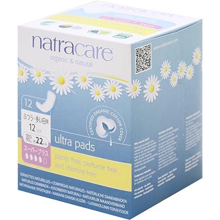 ナトラケア Natracare 生理用ナプキン オーガニック ふつうの日用~多い日用 羽根無し ウルトラパッド スーパープラス 12個入り