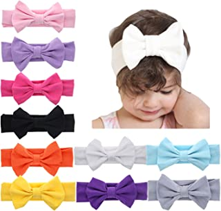 Baby Girl Elastic Headbands Newborn Toddler Hairbands Bows Children Soft Headwrap Hair Accessories