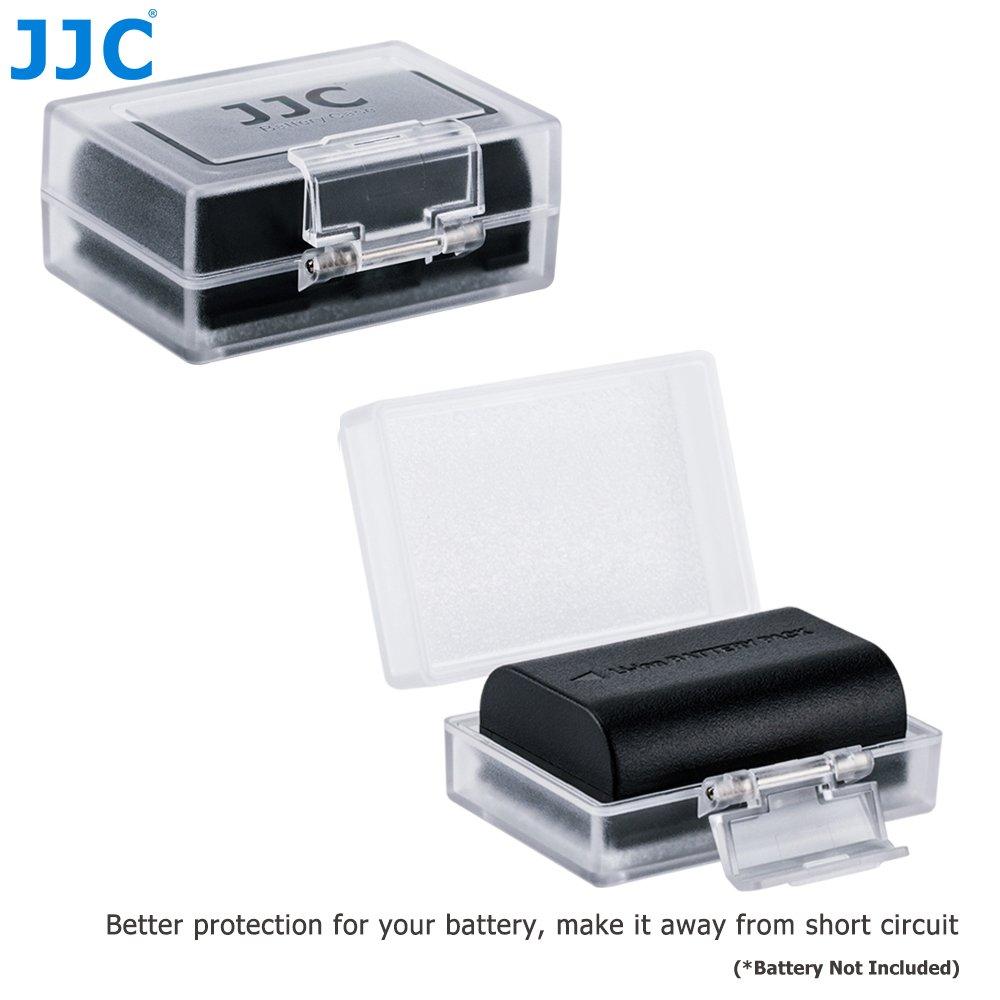 JJC Caja Resistente al Agua de la Batería para la Batería de la Cámara (Se adapta a Canon LP-E6, LP-E8, LP-E5, LP-E12, LP-E17 Nikon EN-EL15, EN-EL14, EN-EL3E Sony NP-FW50, NP-BX1, BG1, BD1