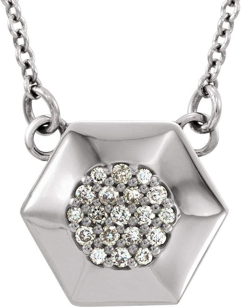 .08 Cttw Diamond Geometric Facet Superlatite Ne Triangle Chain Charm Pendant Over item handling