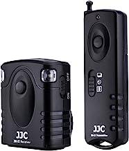 JJC Radio Wireless Remote Control for Canon EOS Rebel T6 T7 T5 T8i T7i T6i T6s T5i T4i T3i T2i T1i SL3 SL2 SL1 EOS 60D 70D 77D 80D 90D EOS RP R M5 M6 Mark II and More Cameras with Sub Mini Connection