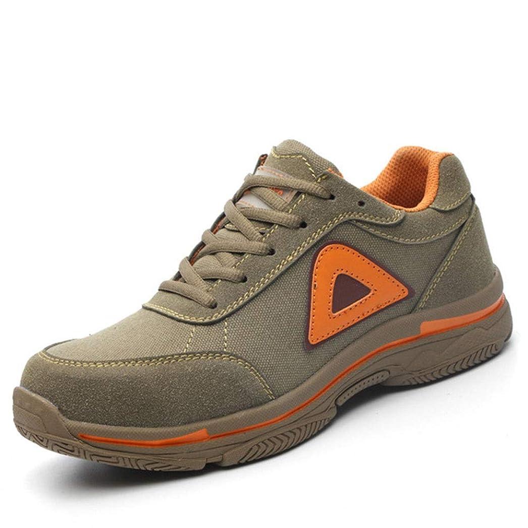 甲虫アフリカ酸化物安全靴 作業靴 ジョギングシューズ ワークシューズ 通気性 鋼先芯 衝撃吸収 軽量 耐磨耗 アウトドア旋盤作業 (Color : Brown, Size : 42)