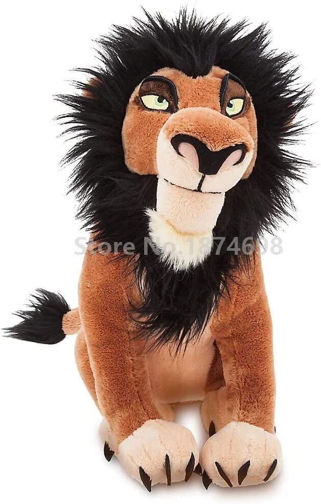 siqiwl Peluches The Lion King Scar Plush Stuffed Animals Niños Peluches Muñecas para Niños Regalos 34cm