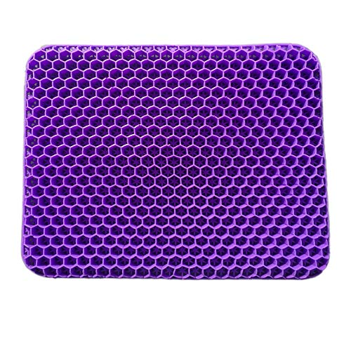 Seat Cushion,Car Seat Cushion, Seat Cushion Kitchen Chair, Egg Seat Cushion, Relieving Back Pain, Sciatica Pain, Long Sitting, Office Chair,Wheelchair, Ultimate,Portable Chair Pad (Purple)