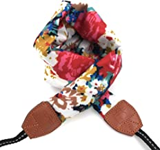 LIFEMATE Camera Strap,DSLR Camera Strap Universal Neck Strap,Fabric of Bohemia Floral Scarf Camera Strap for Women (Ethnic flower1)