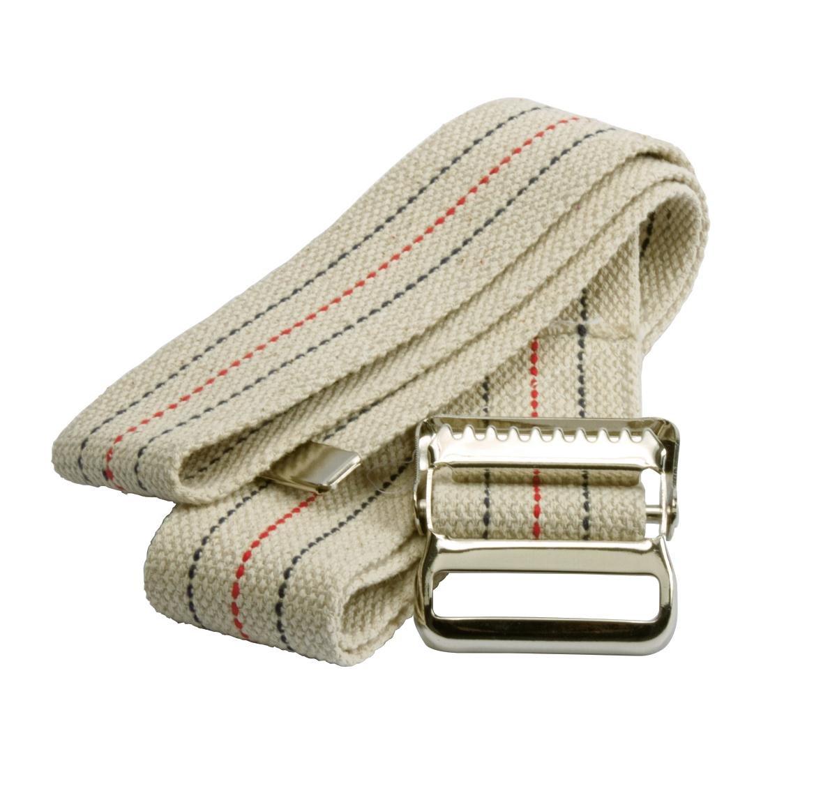Medline MED821203 Washable Denver Mall Cotton Gait Ranking TOP15 Blue Belts W Natural Red