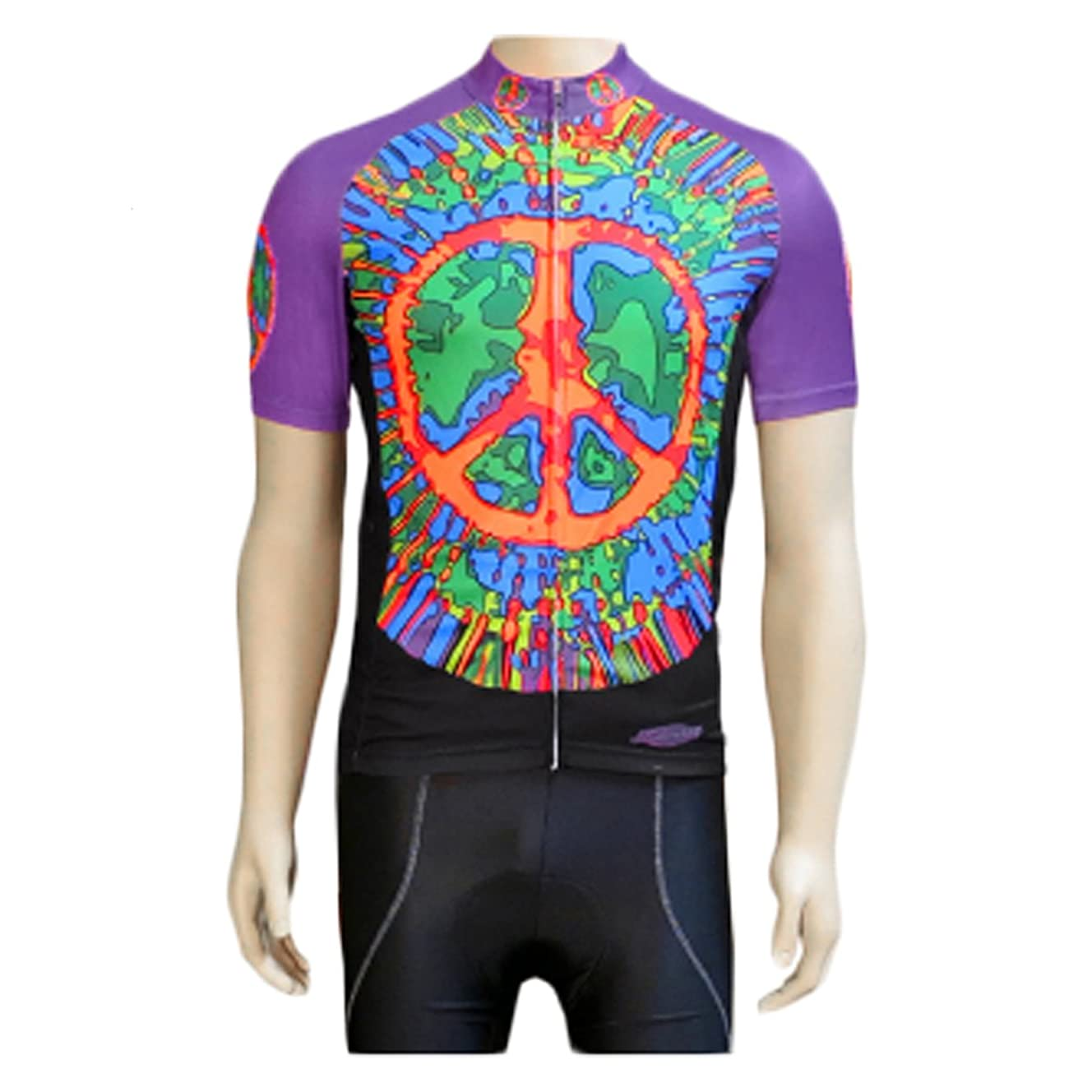 Clean Motion Short Sleeve Cycling Jersey - Peace