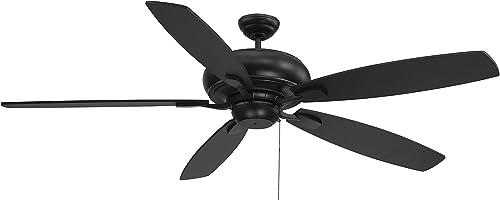 "new arrival Savoy House 68-227-589-89 Salon Wind Star 68"" 5 Blade Matte Black Ceiling 2021 Fan (68"" W wholesale x 16""H) outlet online sale"