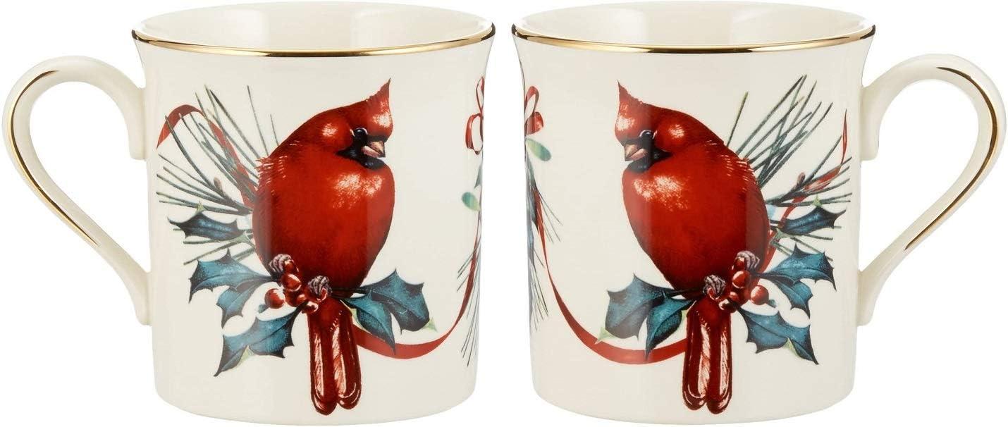 Lenox Max 74% OFF Winter Greetings latest Cardinal Fine China P Set Mugs of Two 2