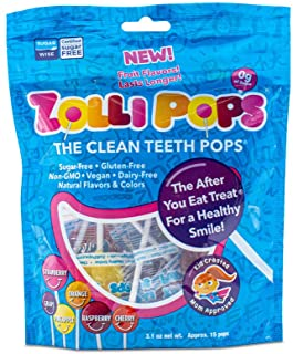 Zollipops Clean Teeth Lollipops | Anti-Cavity, Sugar Free Candy with Xylitol for a Healthy Smile - Great for Kids, Diabeti...