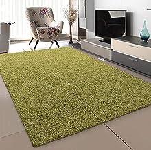 Sanat Alfombra de salón, Verde Claro, Pelo Largo, Moderna, tamaño: 80 x 150 cm