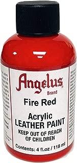 Angelus Acrylic Paint 4 Oz. (Fire Red)