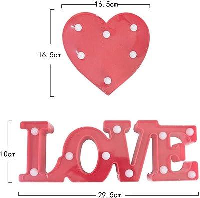 3D愛のLEDの手紙の夜のライト新年のギフトロマンチックなバレンタインデーのギフトの結婚式の誕生日パーティーの装飾 (Color : Va002 red)