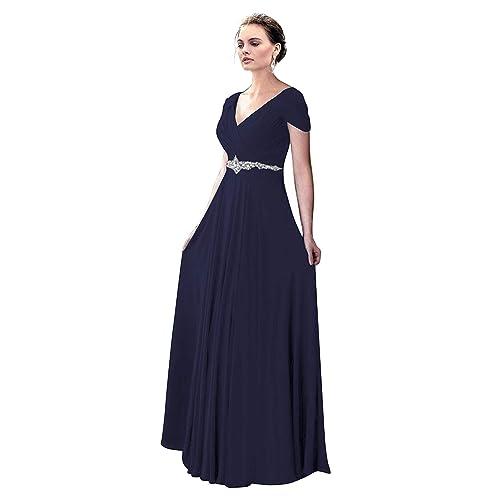 VaniaDress Women V Neck Crystal Beading Long Prom Dress Evening Gowns V260LF 3165151689e8