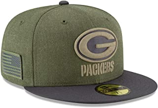 New Era 59Fifty Hat Green Bay Packers On-Field Salute to Service Green Fitted Cap
